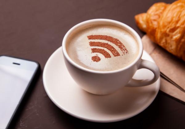 cafe's free wifi